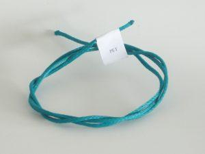 Provázek polyethylen (PET) Ø 2,5 mm/ 1m pletená, bílá, kámen, zelená, tmavě zelená