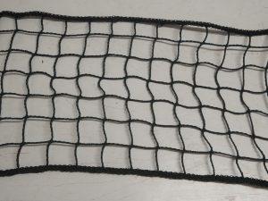 Ochranná síť obšívaná PET 45/3,0 mm černá rašlovaná