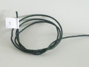Provázek polyethylen (PET) Ø 3,0 mm/ 1m skaná, bílá, tmavě zelená