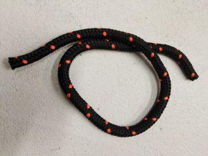 Tažné lano 16 mm N, PPV černá – 8m - 2