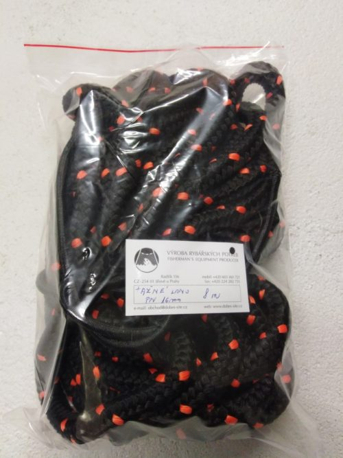 Tažné lano 16 mm N, PPV černá – 8m - 1
