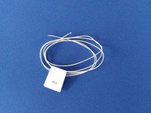 Provázek polyester (PES) Ø 0,9 mm/ 1 m, pletená, bílá