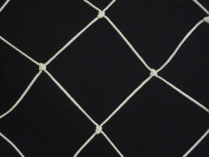 Dekorační síť ručně pletená, bavlna 80/8,0 mm