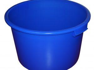 Plastová nádoba kulatá 90l bez rámu, modrá (PE)