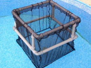 Kolíbka sdvojitým plovoucím rámem 1 x 1 x 0,8m PAD 10/1,4 mm - 3