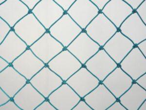 Ochranná síť N 10,5 x 3,3 m, PET 45/2,5 mm zelená uzlová obšitá