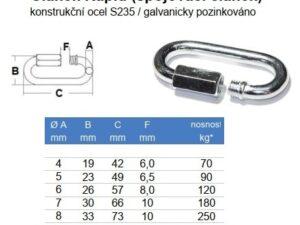 Článek RAPID 4 mm zinkovaná ocel - 1
