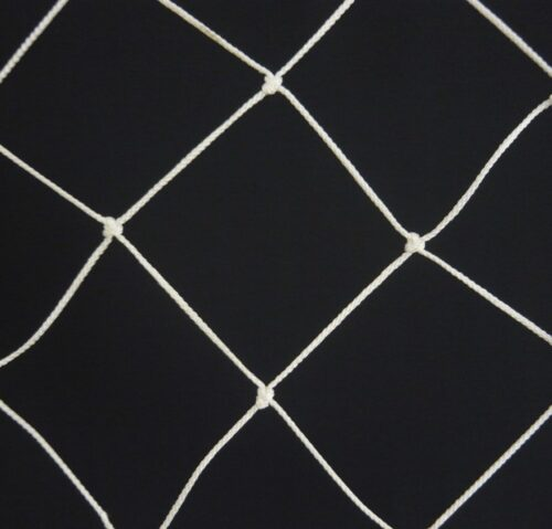 Ochranná síť N 6,5 x 20 m, PPV 120/3,0 mm bílá uzlová obšitá - 1