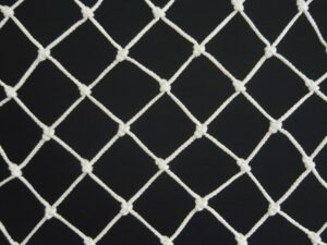 Ochranná síť N 2,5 x 17 m, PPV 40/2,0 mm bílá uzlová obšitá